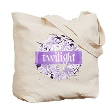 Crystal Purple Twilight Wreath Tote Bag