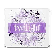 Crystal Purple Twilight Wreath Mousepad