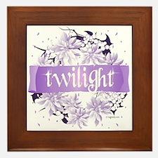 Crystal Purple Twilight Wreath Framed Tile