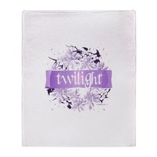 Crystal Purple Twilight Wreath Throw Blanket