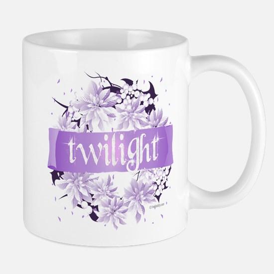 Crystal Purple Twilight Wreath Mug
