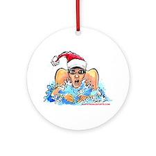 Xmas Swim Ornament (Round)