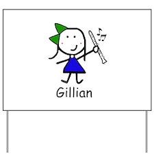 Clarinet - Gillian Yard Sign