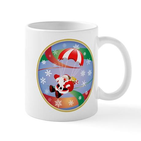 Sky Dive Santa Mug