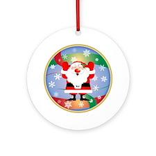 Jolly Santa Ornament (Round)