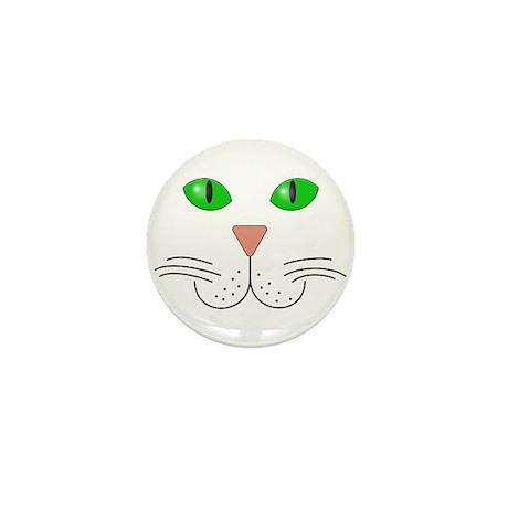 Cat Face Mini Button