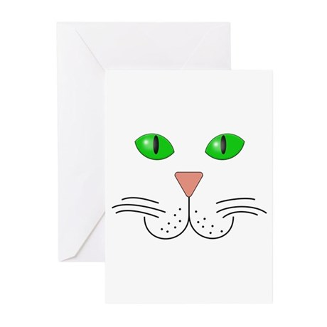 Cat Face Greeting Cards (Pk of 20)