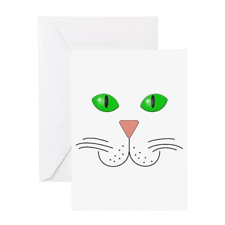 Cat Face Greeting Card