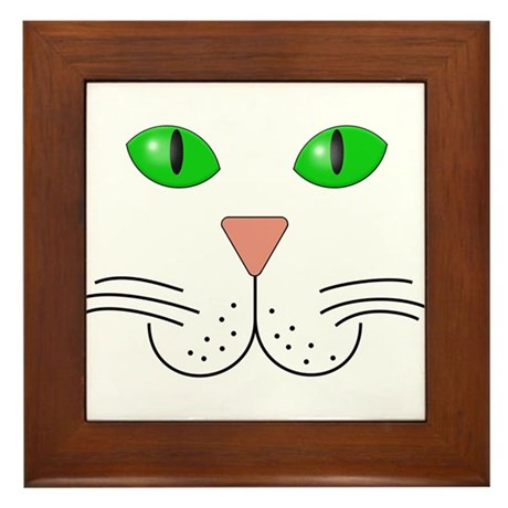 Cat Face Framed Tile