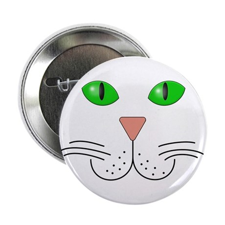 """Cat Face 2.25"""" Button (10 pack)"""