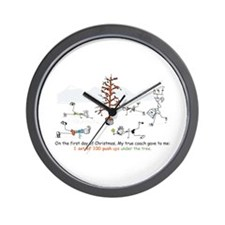 Runner's First Day of Christm Wall Clock
