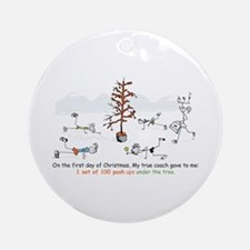 Runner's First Day of Christm Ornament (Round)
