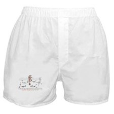 Runner's First Day of Christm Boxer Shorts