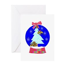Cute Christmas snowglobe Greeting Card