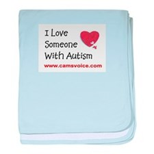 I Love Someone with Autism baby blanket