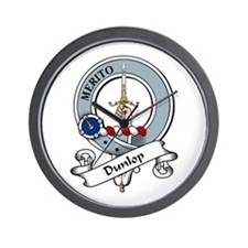 Dunlop Clan Badge Wall Clock