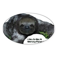 Sloth, Not a morning person Decal