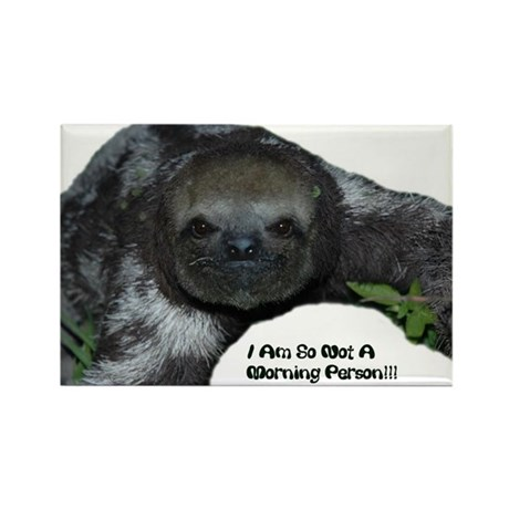 Sloth, Not a morning person Rectangle Magnet