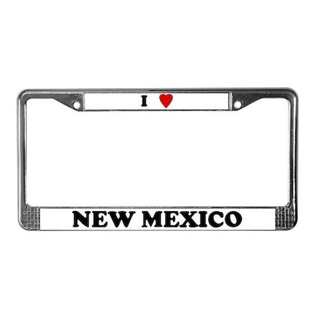 I Love New Mexico License Plate Frame