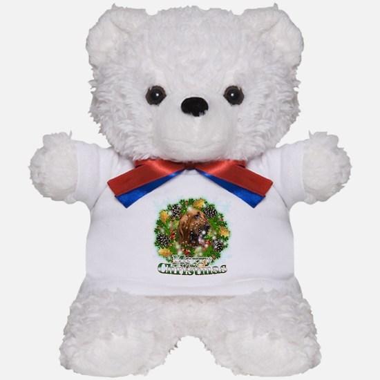 Merry Christmas Bloodhound Teddy Bear