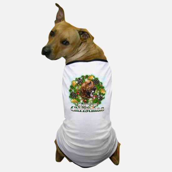 Merry Christmas Bloodhound Dog T-Shirt