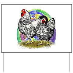 Easter Egg Wyandottes Yard Sign