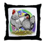 Easter Egg Wyandottes Throw Pillow