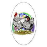 Easter Egg Wyandottes Sticker (Oval)