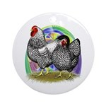 Easter Egg Wyandottes Ornament (Round)