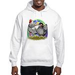 Easter Egg Wyandottes Hooded Sweatshirt