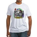 Easter Egg Wyandottes Fitted T-Shirt