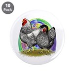 """Easter Egg Wyandottes 3.5"""" Button (10 pack)"""