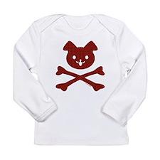 Doggy Crossbones Red Pl Long Sleeve Infant T-Shirt