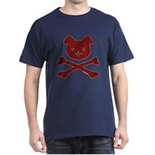 Doggy Crossbones Red Plaid T-Shirt