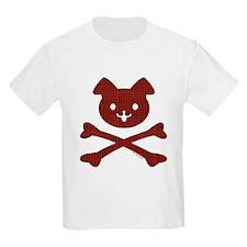Red Plaid Doggy Crossbones T-Shirt