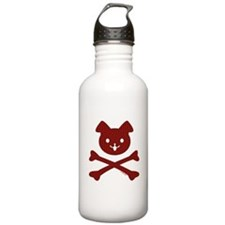 Doggy Crossbones Red P Water Bottle
