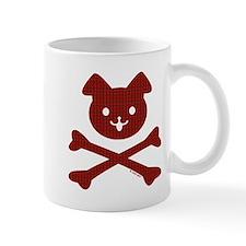 Doggy Crossbones Red Plaid Mug