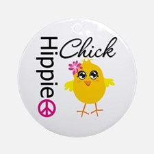 Hippie Chick v2 Ornament (Round)
