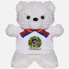 Merry Christmas Black Labrador Teddy Bear