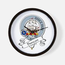 Duncan Clan Badge Wall Clock