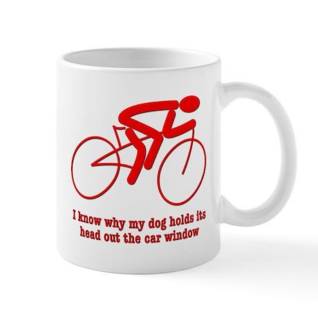 Bike Rider Knows How Dog Feels Mug