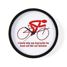 Bike Rider Knows How Dog Feels Wall Clock