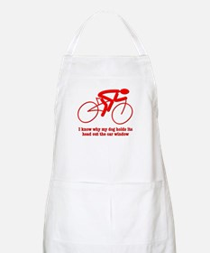 Bike Rider Knows How Dog Feels Apron
