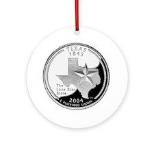 State Quarter Ornament (Round)