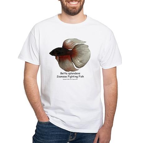 Betta splendens White T-Shirt