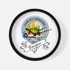 Douglas Clan Badge Wall Clock