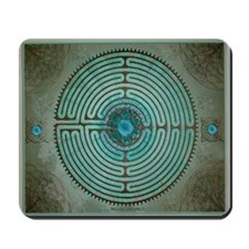 Celtic Labyrinth Digital Art Mousepad