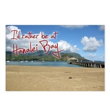 I'd Rather Be at Hanalei Bay Postcards (Pack of 8)