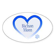 Bichon Blue Heart Decal