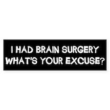 I Had Brain Surgery Car Sticker